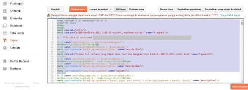 edit html template blogspot