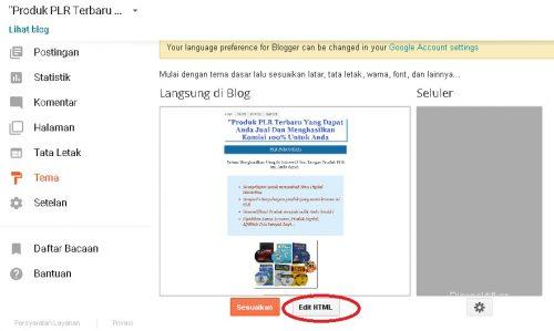 edit template blogspot